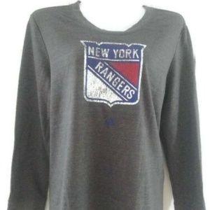 New York Rangers Adidas NHL Women's Comfy Crew NWT